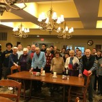 A group shot of the boys and some of the residents that enjoyed their company.