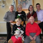 Family Photos are offered every year at our party. Look how great Delores Yurkin, Pete Taylor, and their families look!