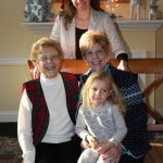 Alyce and her four generations of Martin girls!