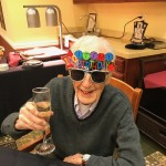 Cheers to a 100th birthday on New Year's Eve!