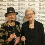 Dolores Finley and Lynne Templeton having fun in the Photo Booth.
